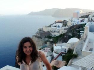 Elle Vidovich in Santorini. Photo: Supplied