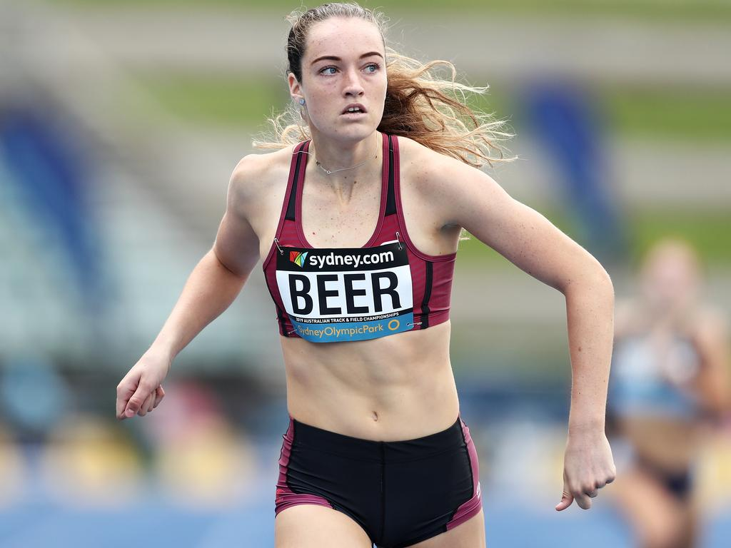 La sensation adolescente Ellie Beer participera à la finale du 400 m féminin U17 aux championnats australiens d'athlétisme au Parc olympique de Sydney en avril.
