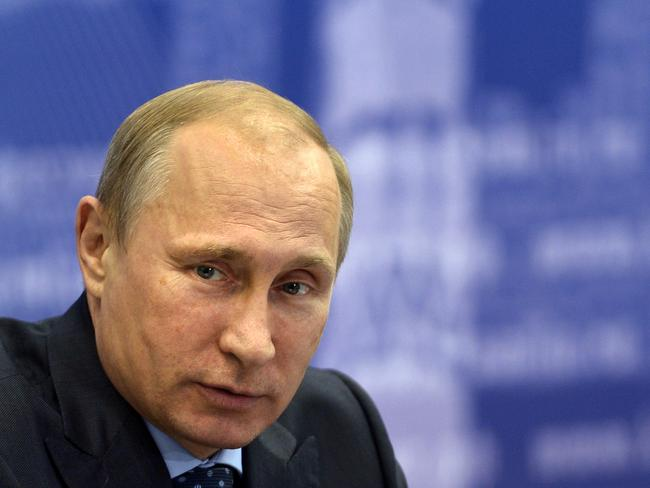 Unrepentant ... Russian President Vladimir Putin has criticised Europe's 'strange and unacceptable logic'. Picture: Alexei Nikolsky