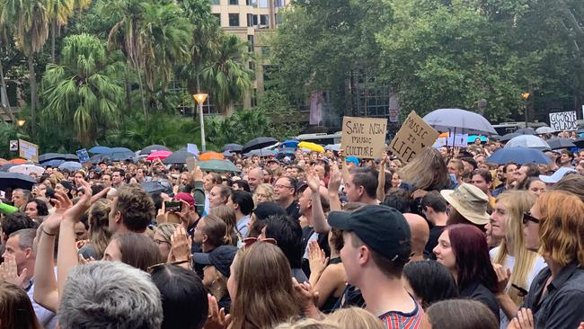 Thousands attended Hyde Park for the Don't Kill Live Music Rally. Picture: Laura Sullivan.
