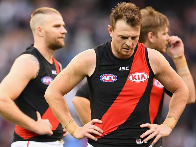 Jake Stringer and Brendon Goddard. (Photo by Quinn Rooney/Getty Images)