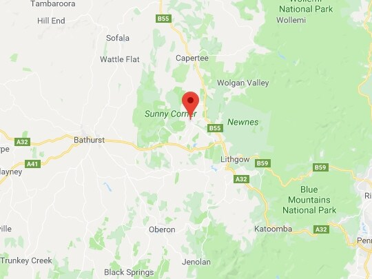 The crash happened on Sunny Corner Road, Portland in the NSW Central Tablelands at around 3.35pm Wednesday. Picture: Google Maps