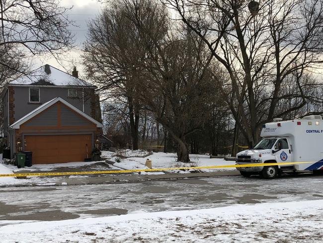 Crime scene tape surrounds a property where police say they recovered the remains of at least six people from planters on the property which is connected to alleged serial killer Bruce McArthur. Picture: AP / Rob Gilles