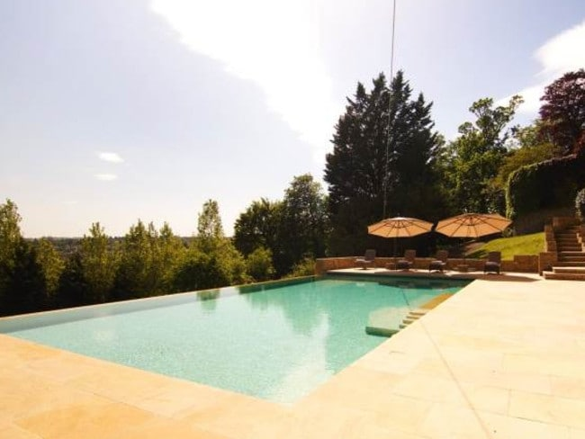 Pool parties are a rare affair in rural Britain. Picture: Savills