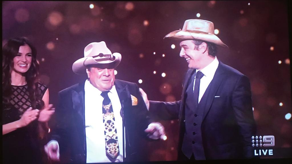 Samuel Johnson wins the Gold Logie at the 2017 Logies. (Picture: Supplied)