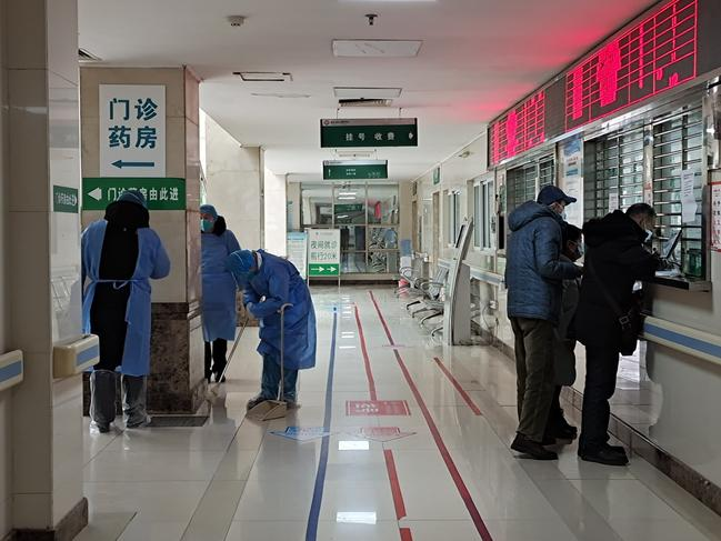 The results of the study came from patient reports inside Jinyintan Hospital in Wuhan. Picture: Getty Images