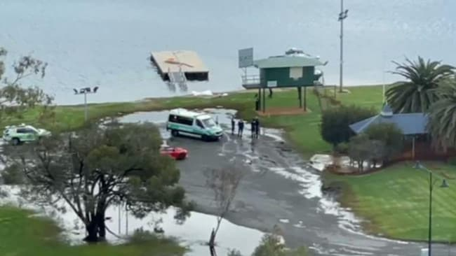 The man was declared dead at the scene. Picture: 7 News