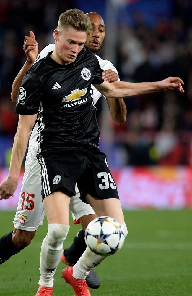 Manchester United's English midfielder Scott McTominay