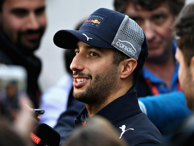 Daniel Ricciardo after his impressive testing run.