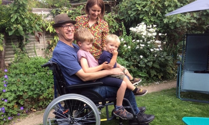 Joe's journey with MND started quietly - but the dad knows he doesn't have much time left. Image: The Sun