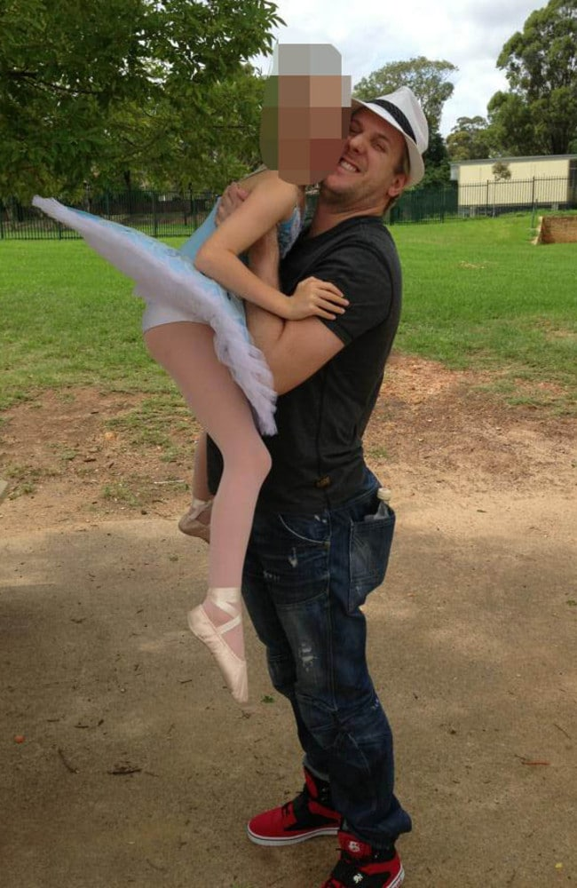 Grant Davies, who described this little girl on Facebook as 'my gorgeous ballerina' loved posing with his tiny students, but was molesting some of them behind closed doors.