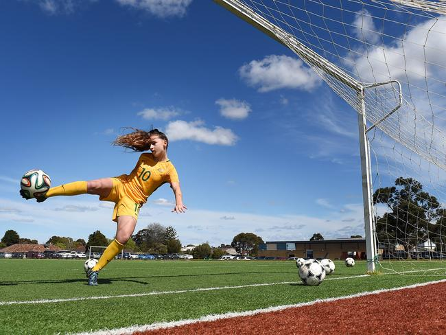 Sofia Sakalis of the Young Matildas. Picture: Steve Tanner