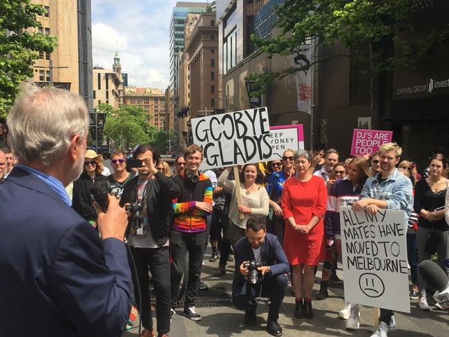 Protesters at rally against Sydney lockout laws last year. Picture: Clarissa Bye