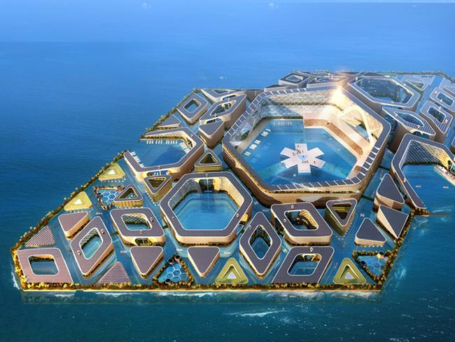 This man-made island is quite pretty. Picture: AT Design Office