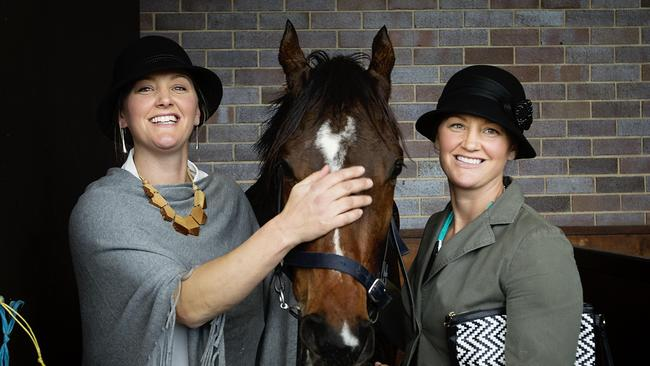 Trainers Emma and Lucy Longmire. Picture: Jenny Evans