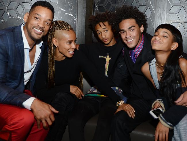 Will and Jada with their kids Jaden, and Willow, and Will's son Trey.