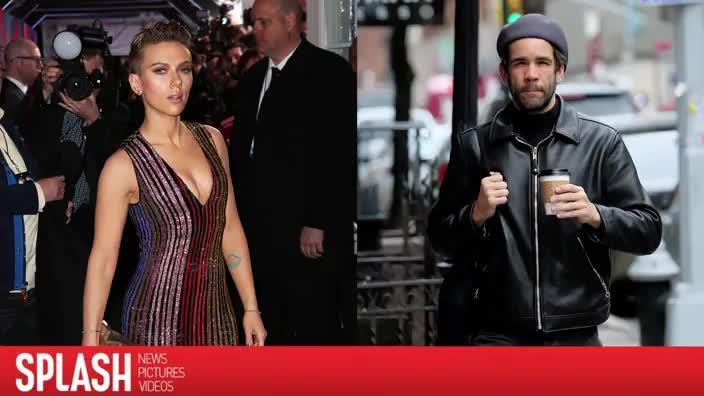 Scarlett Johansson and Romain Dauriac show up to art gallery together