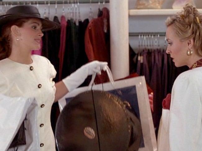 Julia Roberts as Vivian in a scene from Pretty Woman.