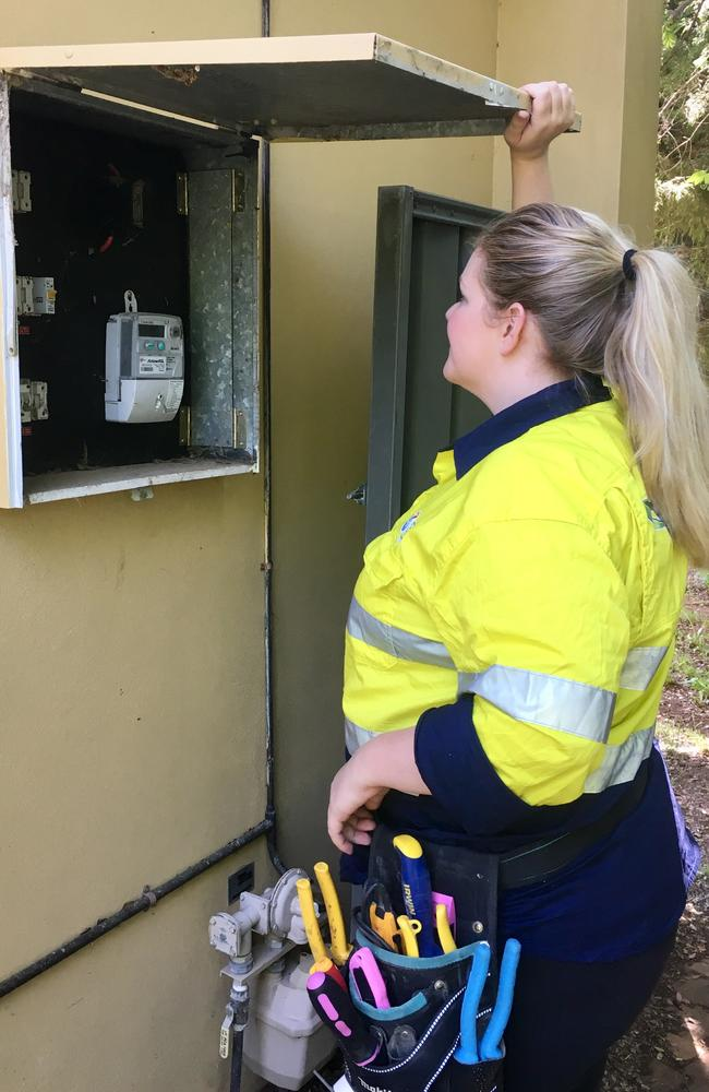Caitlin has found herself in some interesting situations with customers who are shocked she a woman, and is actually qualified to work on their home.