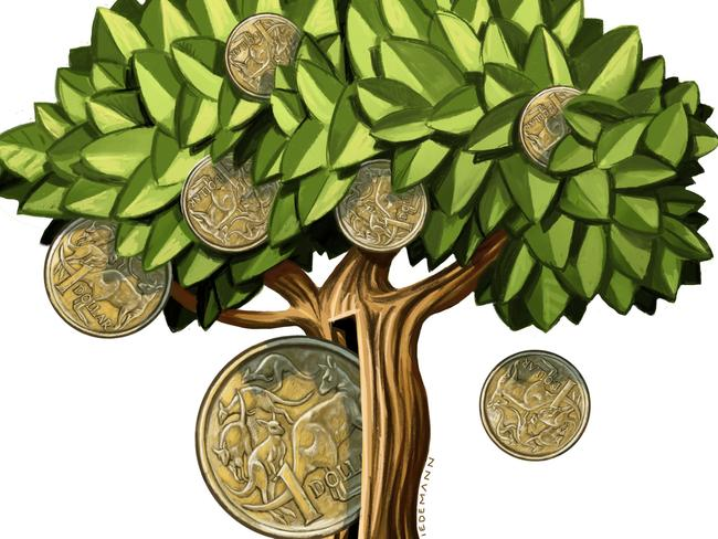 Taking a green approach to investing can pay off. Illustration: John Tiedemann