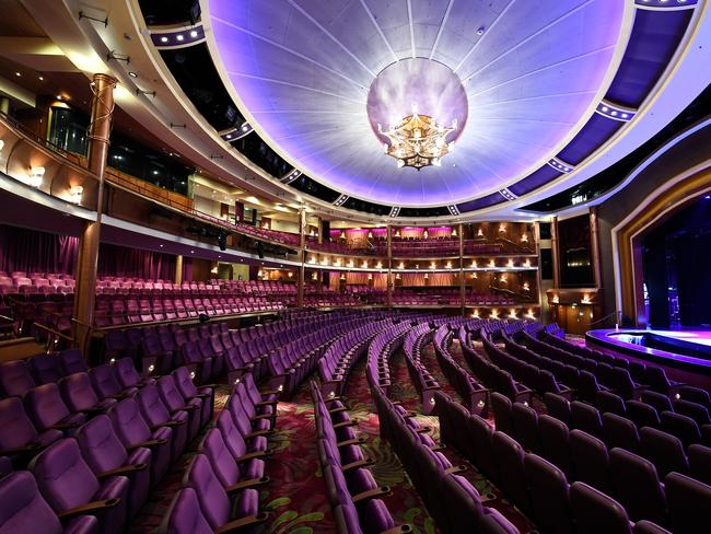 The Royal Theatre hosts special stage performances. Picture: Royal Caribbean