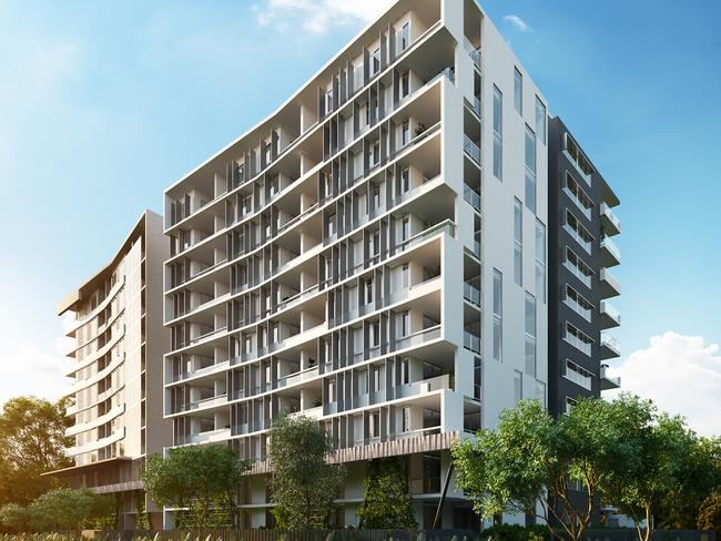 Nick Burge bought his apartment in the Orion building off the plan. Picture: KTQ Developments.