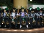 North Koreans enjoy a ride at Kaeson Youth Park. Picture: Carl Court/Getty Images