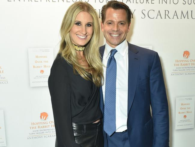 Deidre Ball and Anthony Scaramucci attend pictured in New York last year. Picture: Jared Siskin/Patrick McMullan/Getty Images