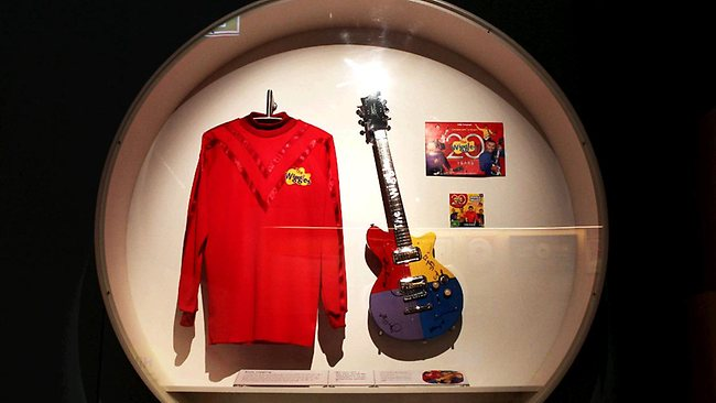 The Powerhouse exhibition features the new prototype Wiggles top. Picture: Nic Gibson