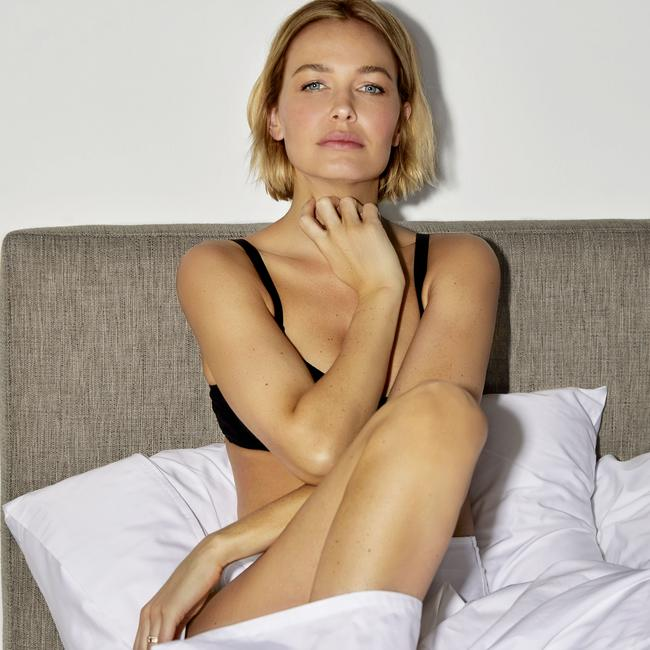 Lara Worthington is the face of a Sheridan Sheets campaign. Picture: Sheridan