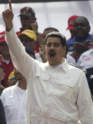 Venezuela's President Nicolas Maduro, who is clinging to power, has described the incident as a 'sabotage'.