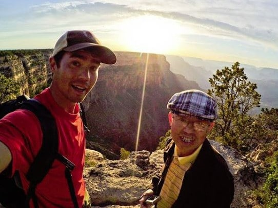 John Chau (L) with his father. Chau's family has said his death was the result of his own free will. Picture: Instagram/@JohnAChau