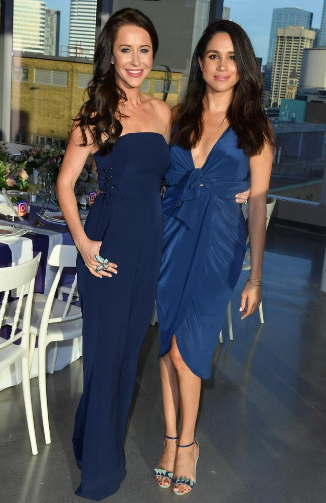 Jessica Mulroney and actress Meghan Markle in Toronto. Picture: 2016