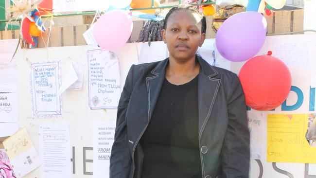 BORN FREE GENERATION: Gladness Mopane another supporter of Nelson Mandela.