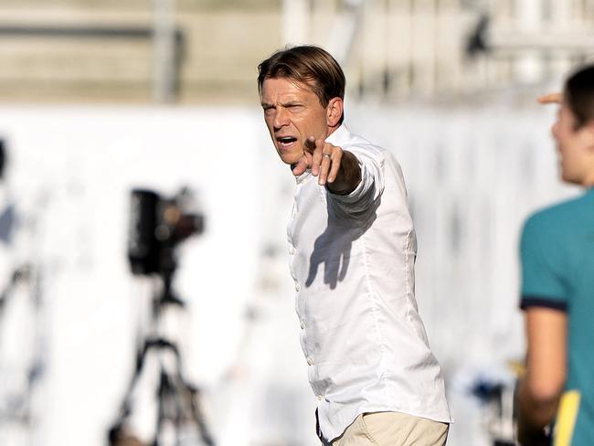 Tony Gustavsson has suffered a third successive loss as Matildas coach. Picture: Henning Bagger / Ritzau Scanpix / AFP