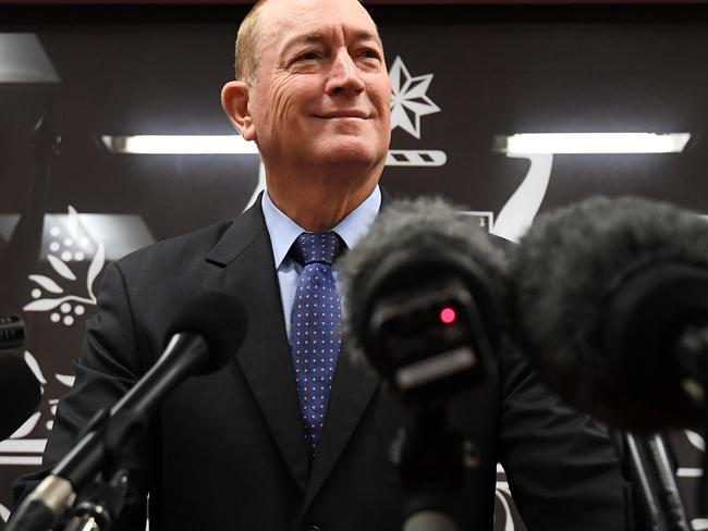 Senator Fraser Anning this week appalled the world when he blamed Muslim immigration for the attack by a white supremacist terrorist on two New Zealand mosques. Picture: Dan Peled/AAP
