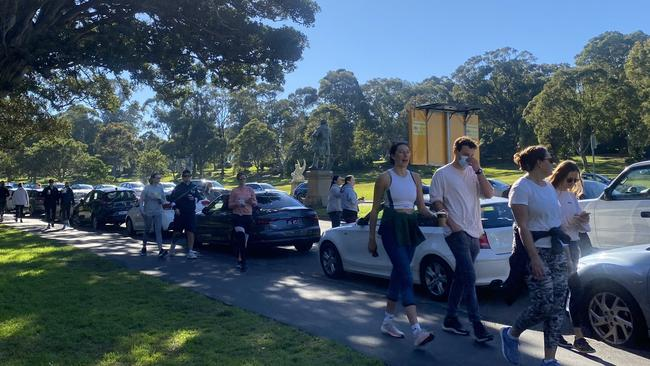 Exercisers thronged to Centennial Park on Saturday morning where it was hard to get a parking space. Picture: NRS/CJS Media