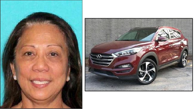 Former Gold Coast resident Marilou Danley (left), has been cleared by police of any involvement. Police were earlier searching for this car in relation to the shootings. Picture: LVMPD