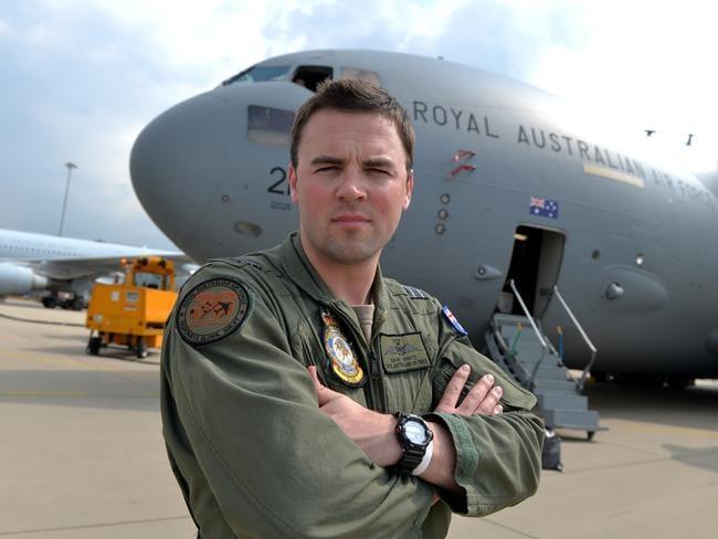 Life defining ... Flight Lieutenant Dave Whyte at Eindhoven. Picture: Ben Stevens