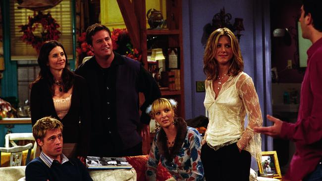Friends attracted plenty of big-name guest stars, including Brad Pitt (left).