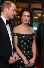 Catherine, Duchess of Cambridge and Prince William, Duke of Cambridge attend the 70th EE British Academy Film Awards (BAFTA) at Royal Albert Hall on February 12, 2017 in London, England. Picture: Getty