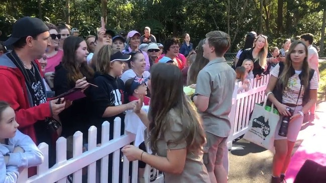 RAW: Bindi Irwin celebrates her 21st birthday at Australia Zoo