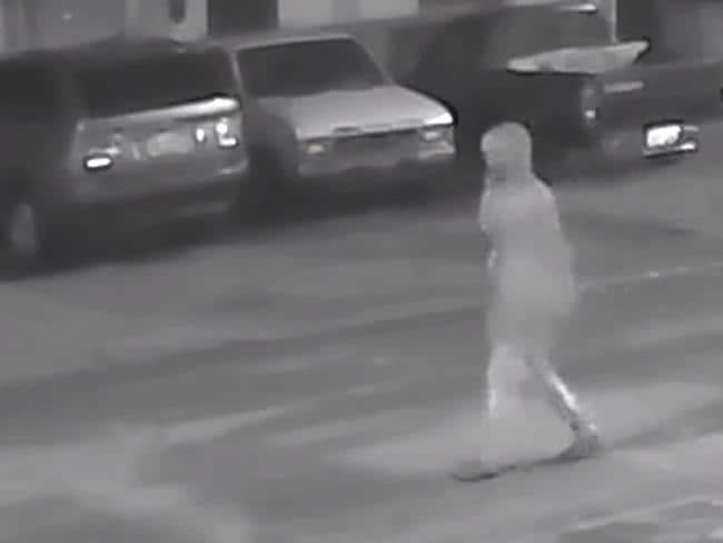This footage is one of the few clues people have about the suspect. Picture: Tampa Police