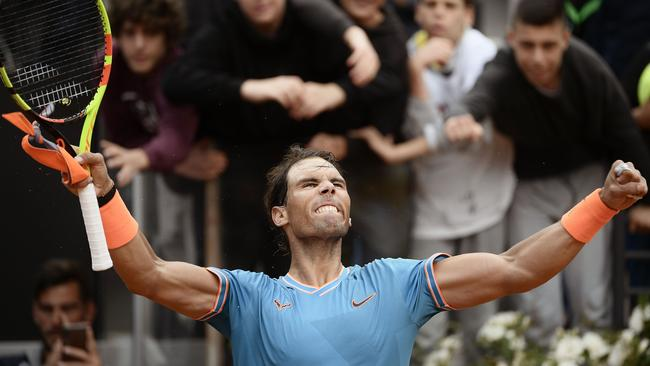 Rafael Nadal was on fire in Rome.