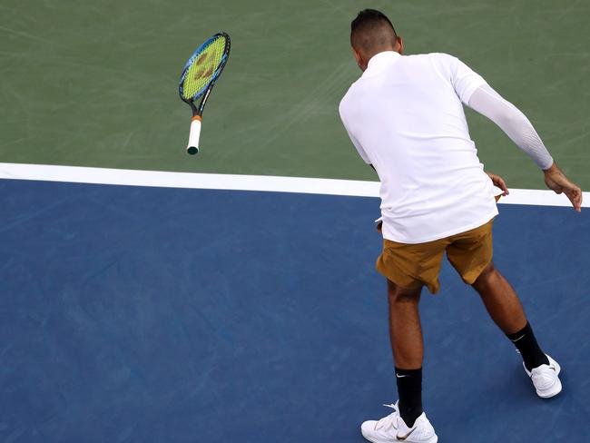 Nick Kyrgios and temper tantrums go heand-in-hand.