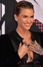 Co-host actress Ruby Rose attends the MTV EMA's 2015 at the Mediolanum Forum on October 25, 2015 in Milan, Italy. Photo by Anthony Harvey/Getty Images for MTV