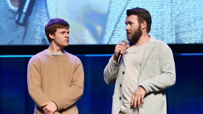Joel Edgerton with star of 'Boy Erased', Lucas Hedges. Photo: Getty Images