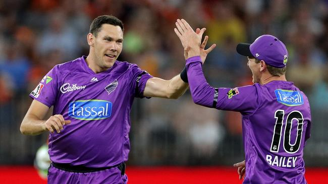 Scott Boland, on the left, has started his SuperCoach BBL late, but well