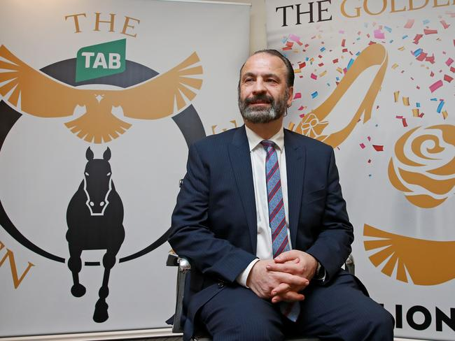 Racing NSW chief executive Peter V'landys announces the new $7.5 Golden Eagle race to be run at Royal Randwick on the same day at the VRC Derby.