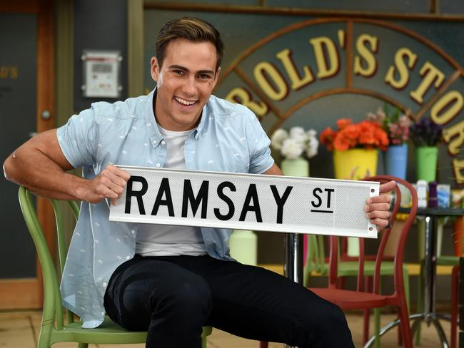 New chapter ... Matt Wilson has hung up his tool belt to take a role on Neighbours. Picture: Tony Gough